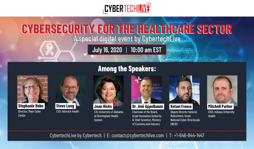 virtual speaking engagement at Cybertech Global - Cybersecurity for the Healthcare Sector
