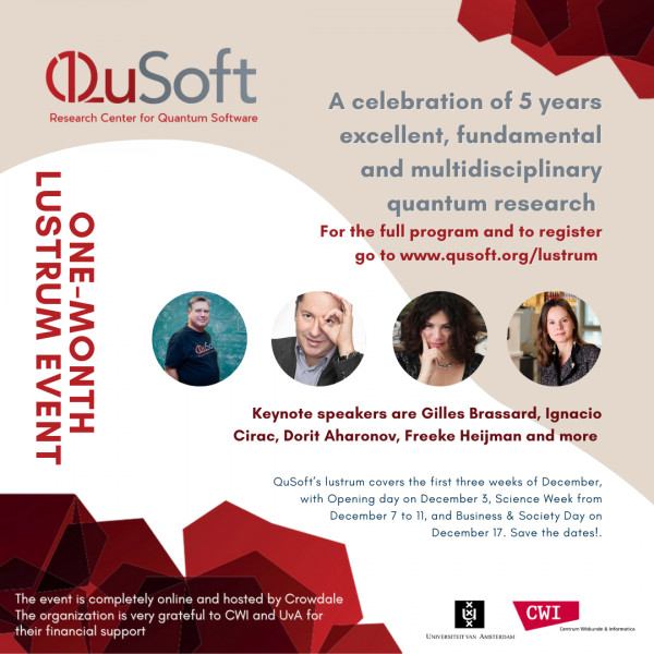 QuSoft celebrates five years of innovative, fundamental and multidisciplinary quantum research