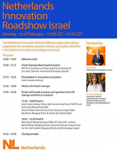 CES Virtual 2021: Netherlands startups roadshow in Israel
