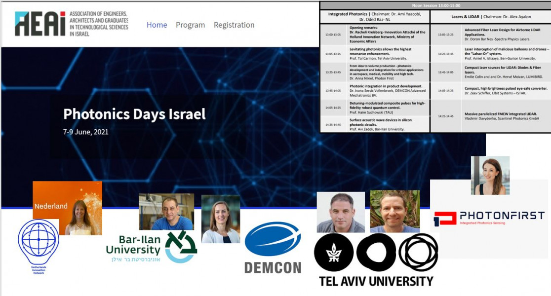 Dutch and Israeli competence in integrated photonics presented at the Israeli Photonics Days
